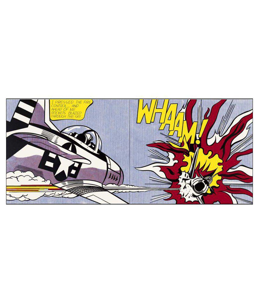 Tallenge Roy Lichtenstein - Whaam! Canvas Art Prints Without Frame Single Piece