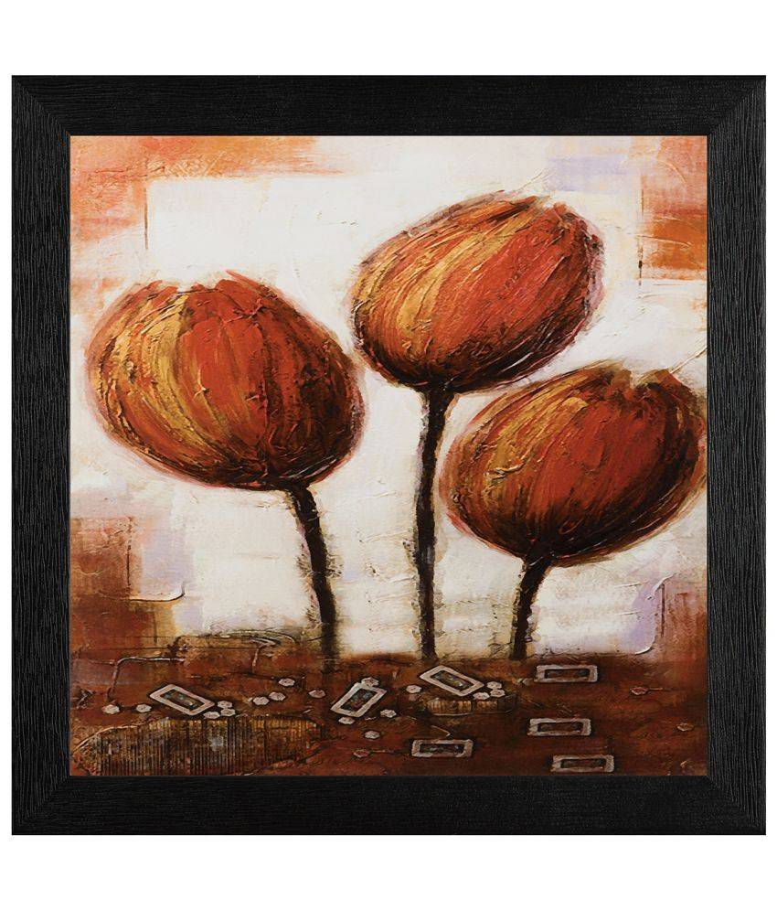 JAF Floral Wood Art Prints With Frame Single Piece