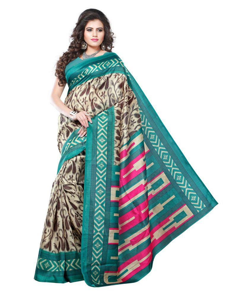 Swaraanjali Fashion Multicoloured Bhagalpuri Silk Saree