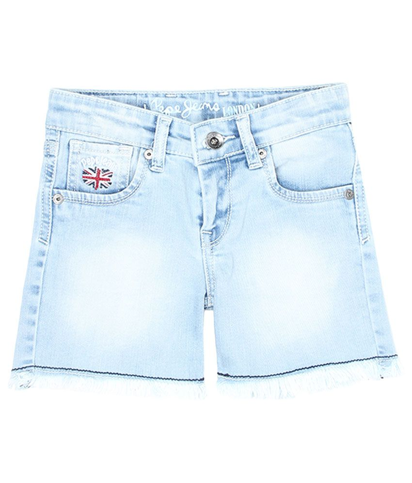 Pepe Blue Slim Fit Denim Shorts