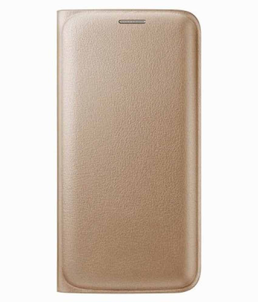 Samsung Galaxy A7 Flip Cover by Sedoka - Golden