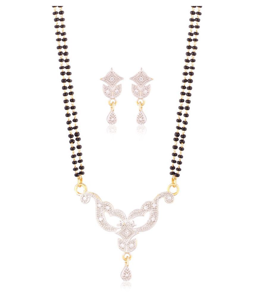 I Jewels Multicolor Mangalsutra Pendant Set