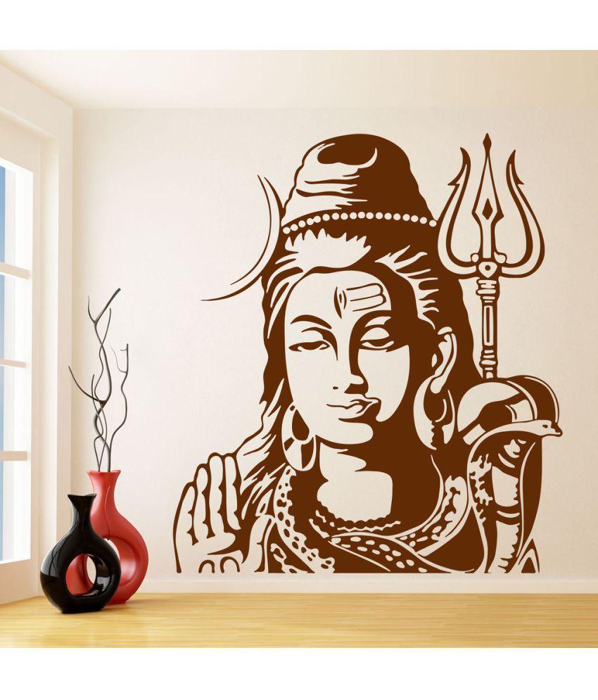Decor Villa Shankar God PVC Wall Stickers
