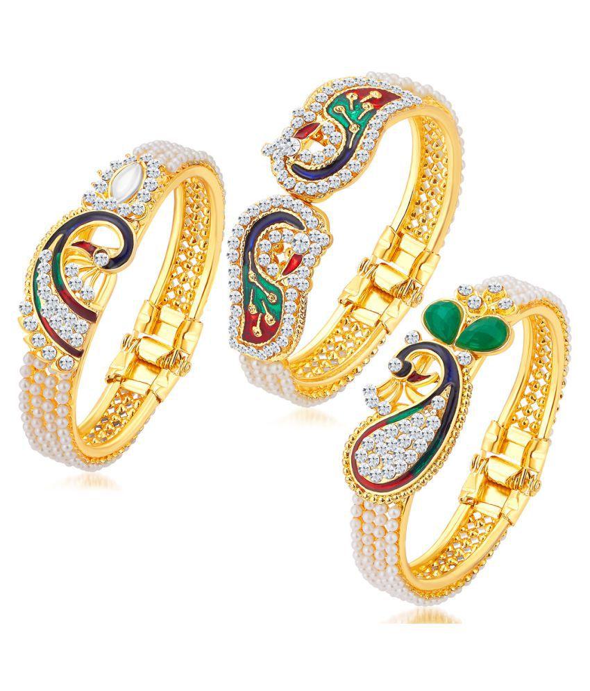 Sukkhi Multicolour Kada - Set of 3