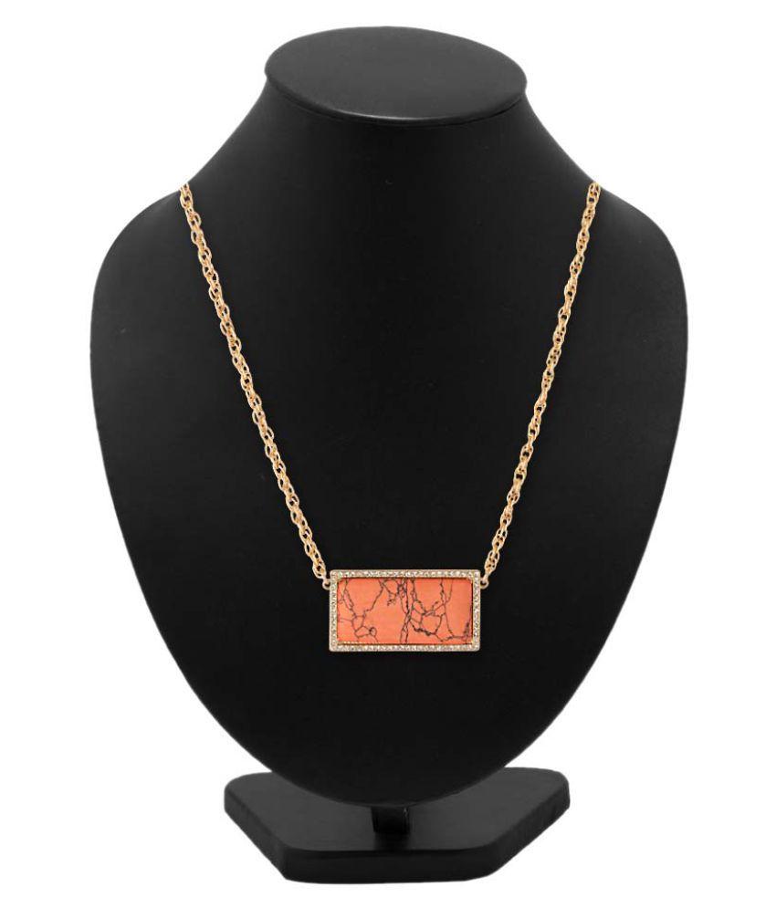 Voylla Orange Necklace