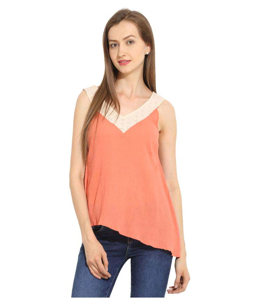 83110ab78cb09 Paprika Orange Cotton Asymmetrical Tops - Buy Paprika Orange Cotton Asymmetrical  Tops Online at Best Prices in India on Snapdeal
