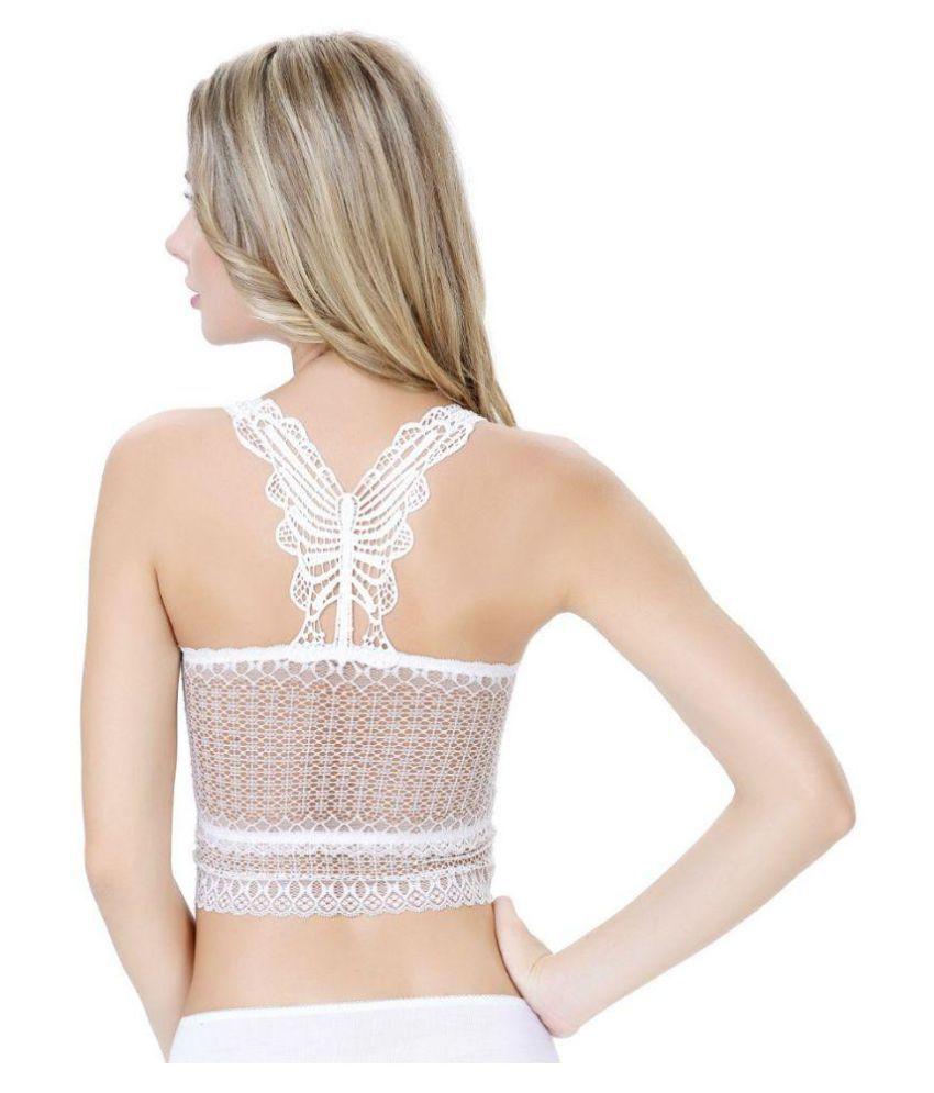 67e8502c78f3eb PrettyCat White Lace Bralette PrettyCat White Lace Bralette. Hover to zoom