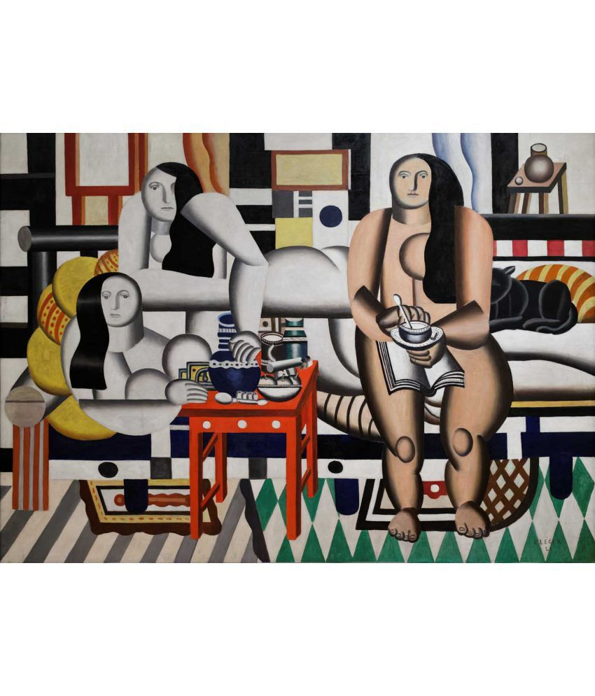 Tallenge  Fernand Léger - Trois Femmes (Three Women)  Canvas Art Prints Without Frame Single Piece