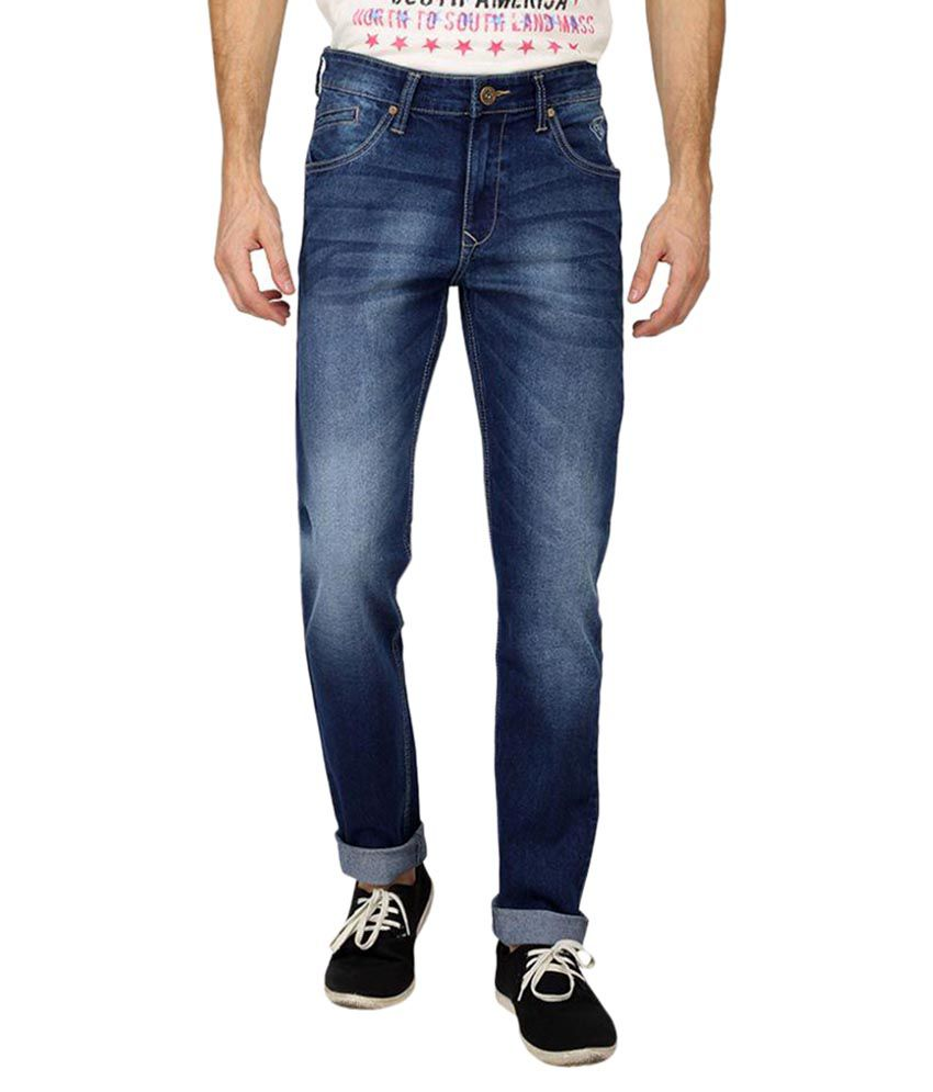 Pepe Jeans Blue Slim Faded