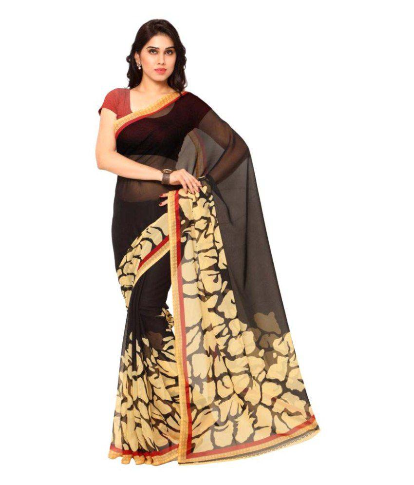 Suchi Fashion Black Georgette Saree