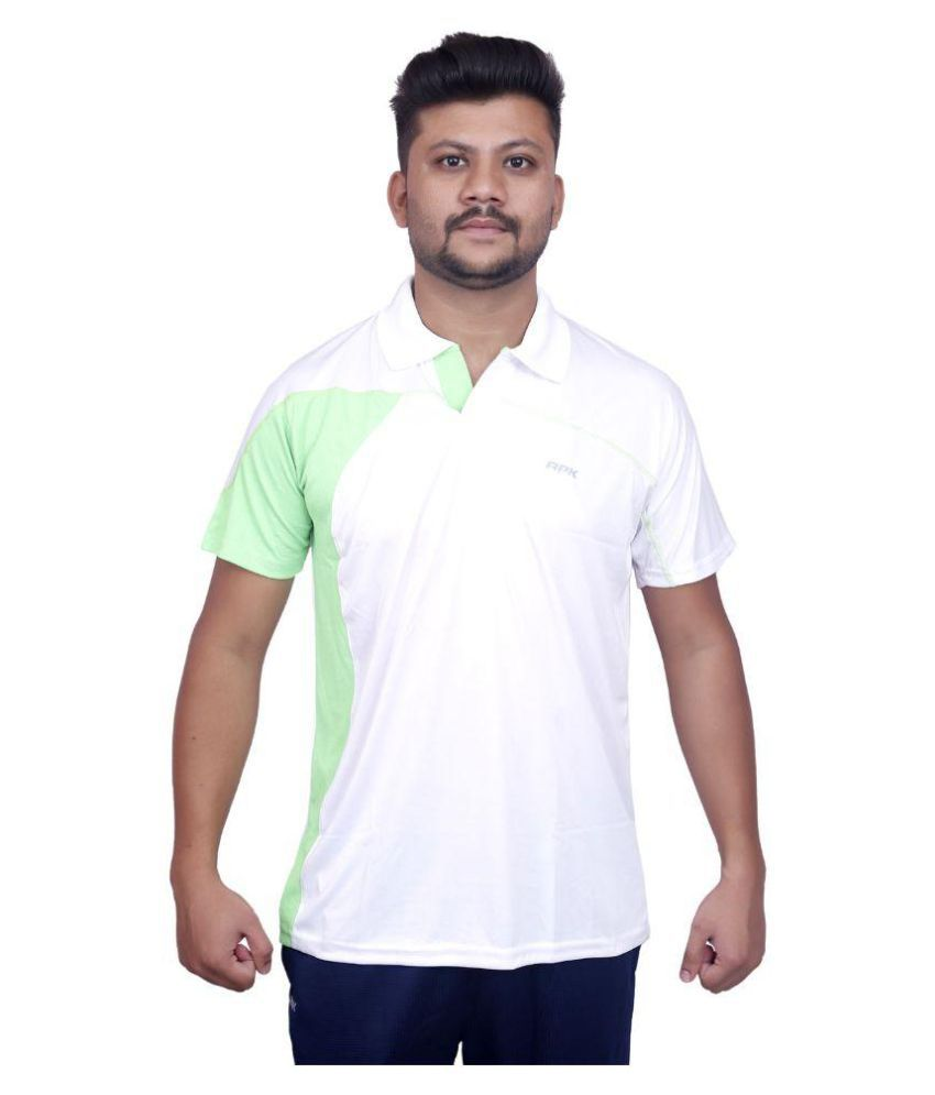 JUSTIN WHITE & GREEN DRY FIT HALF SLEEVE T-SHIRT