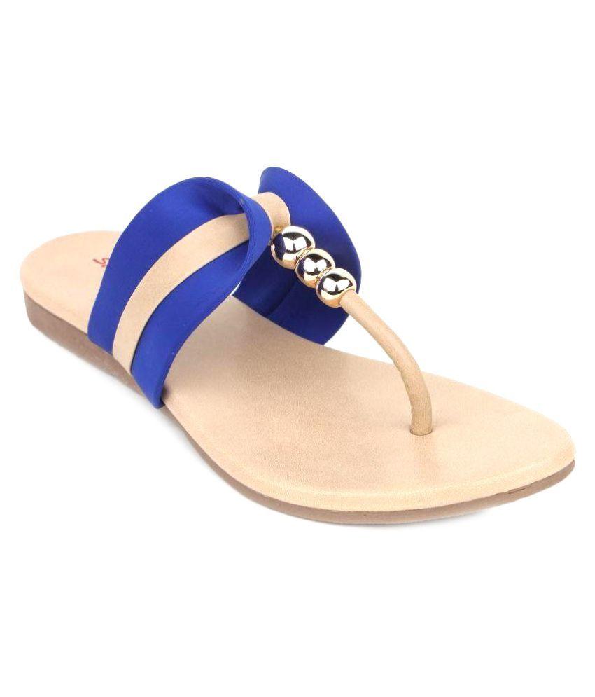 Star Style Blue Flats