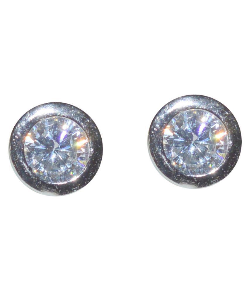 Kataria Jewellers Solitiare 92.5 BIS Hallmarked Silver Stud Earring