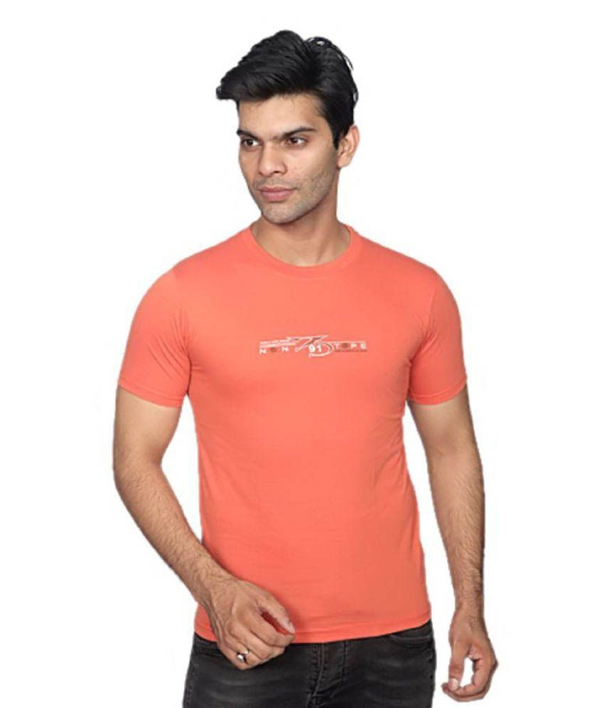 Rahis Orange Round T-Shirt