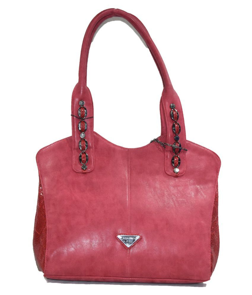 Moochies Red Pure Leather Shoulder Bag