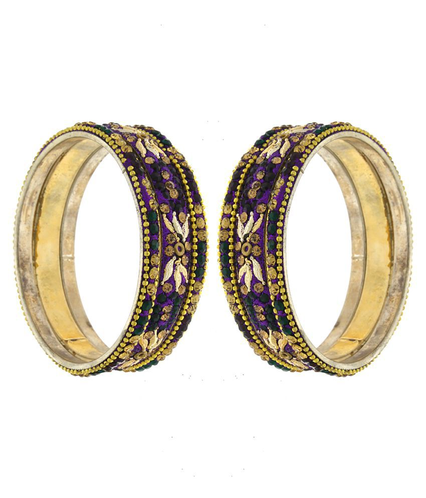 Anuradha Art Multicolour Bangle - set Of 2