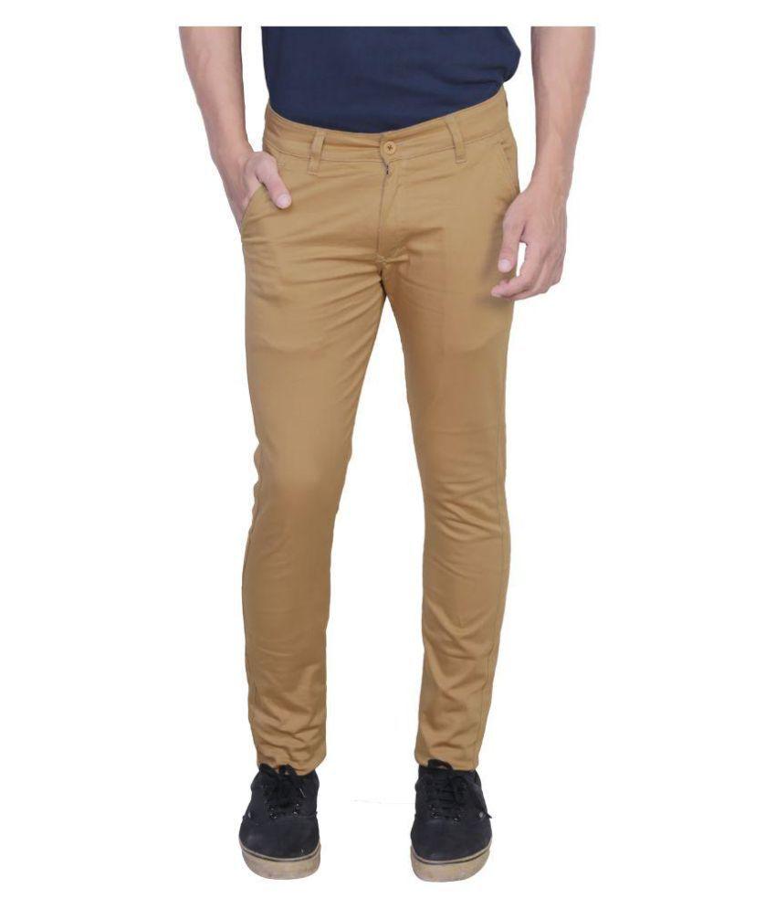 Nimegh Beige Slim Flat Trouser