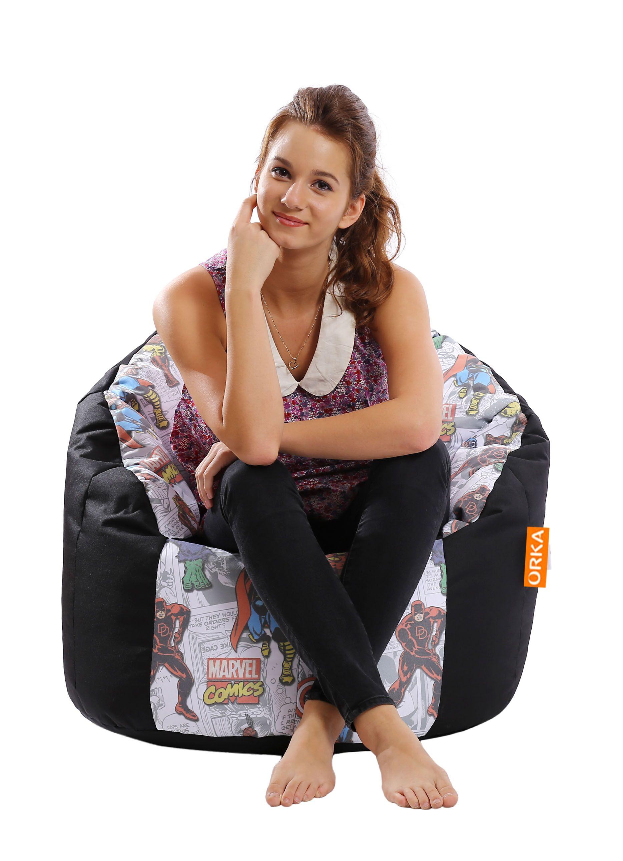 Amazing Orka Avengers Bean Bag Cover Multi Colour Buy Orka Machost Co Dining Chair Design Ideas Machostcouk