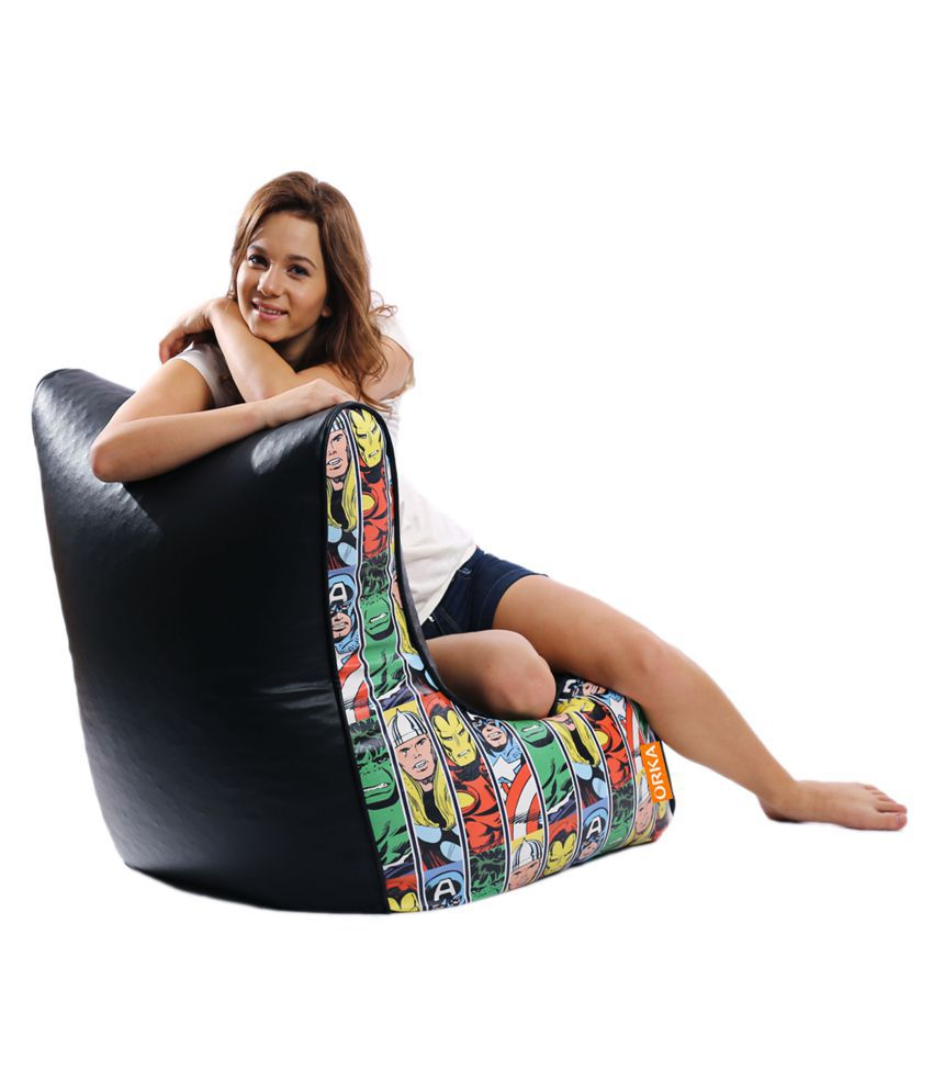 Excellent Orka Marvel Avengers Bean Bag Cover Multi Colour Buy Gmtry Best Dining Table And Chair Ideas Images Gmtryco