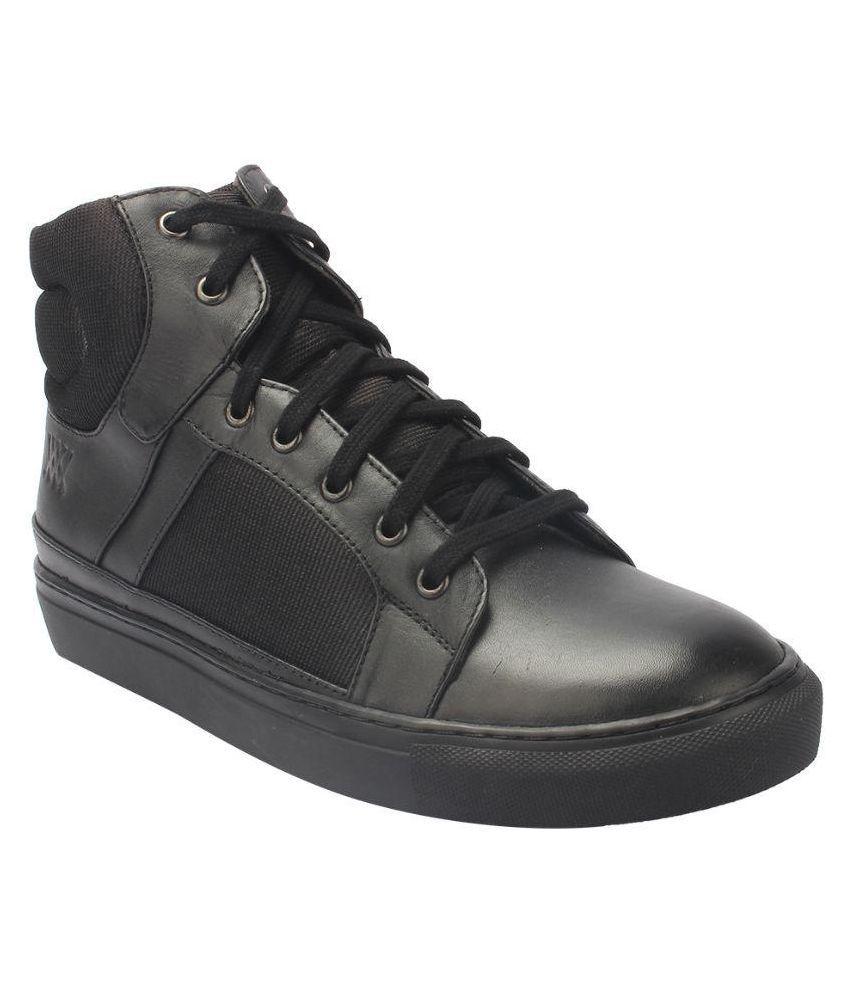 Aditi Wasan Leather Black Sneaker