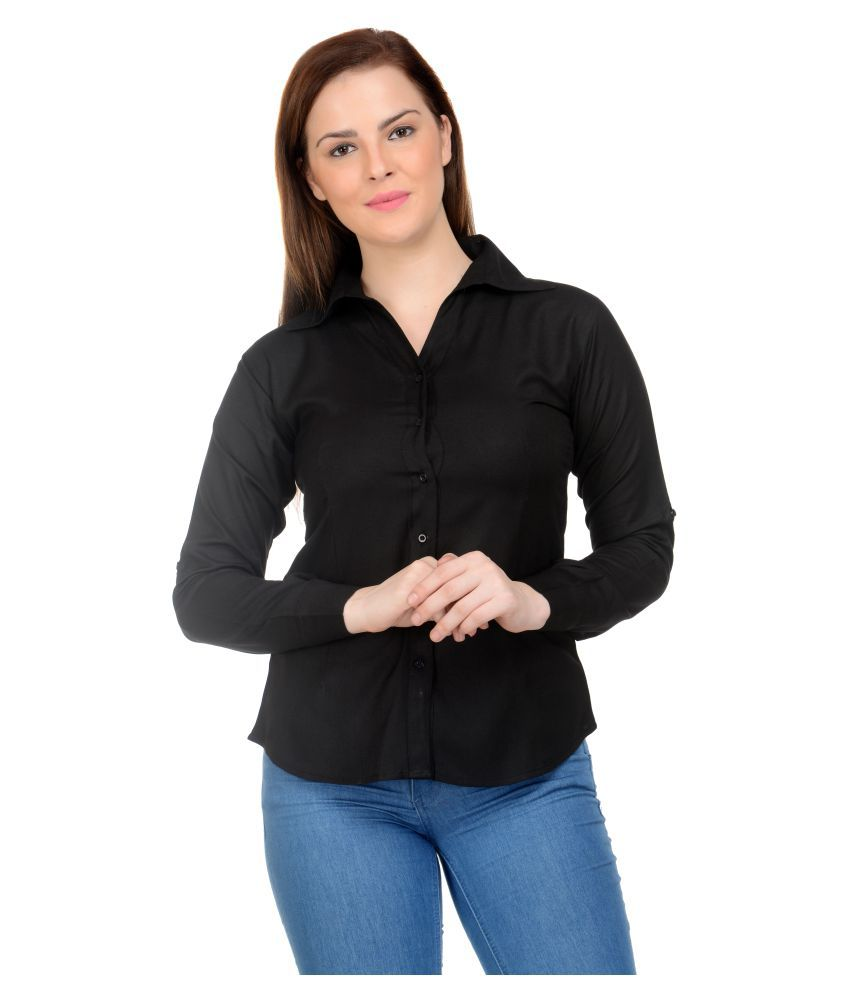 Neuvin Black Rayon Shirt
