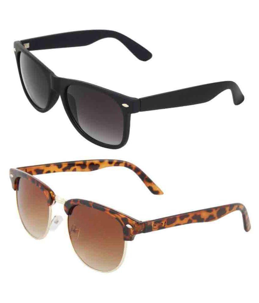 Zyaden Multicolor Clubmaster Sunglasses ( Com-49 )