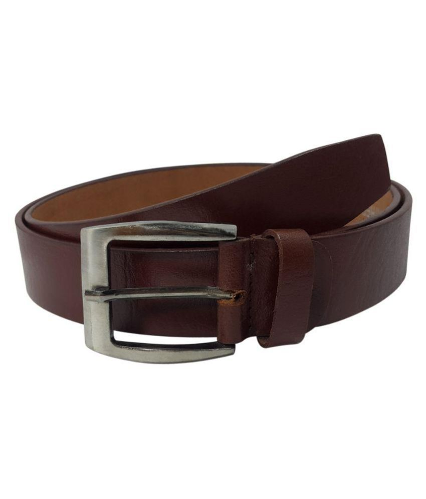 Oglivay Brown Leather Casual Belts