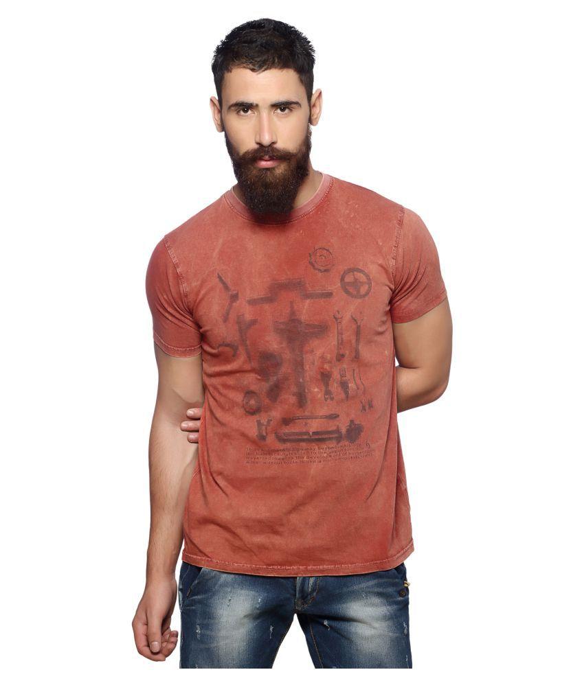 Nucode Orange Round T-Shirt