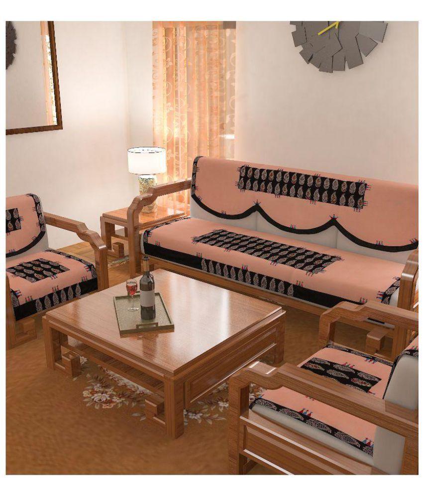 rangdesi 5 seater cotton set of 6 sofa cover set buy rangdesi 5 rh snapdeal com
