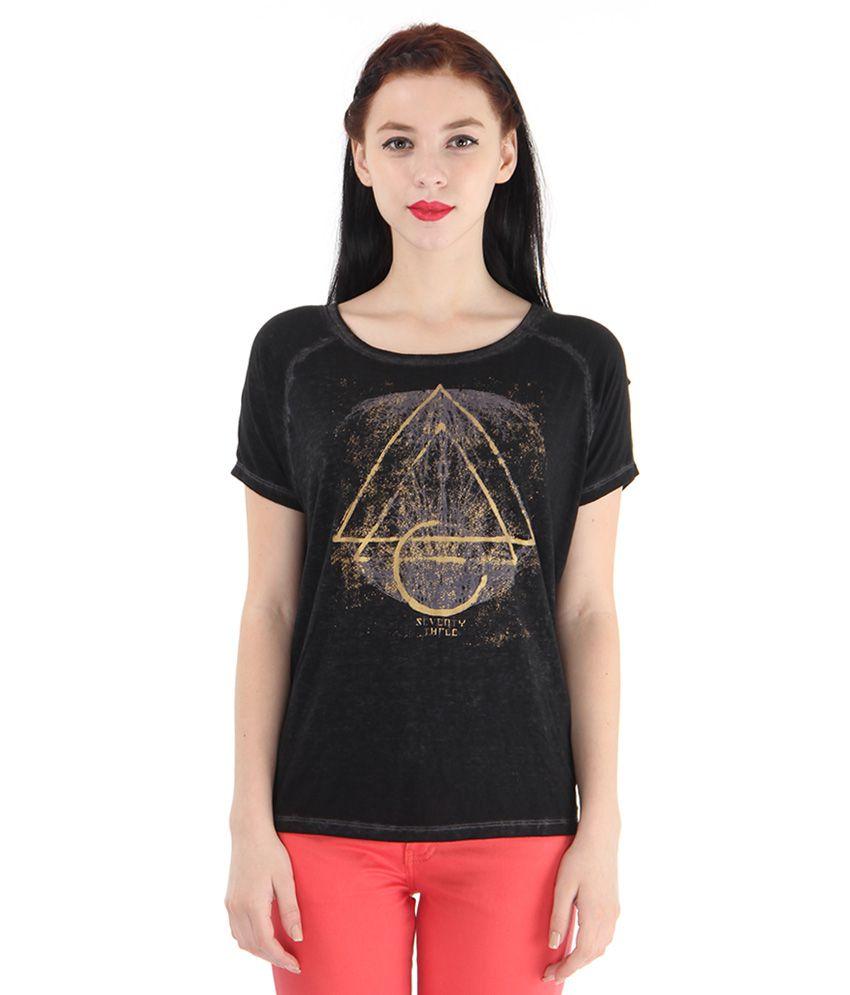 Pepe Jeans Black Printed T-Shirt