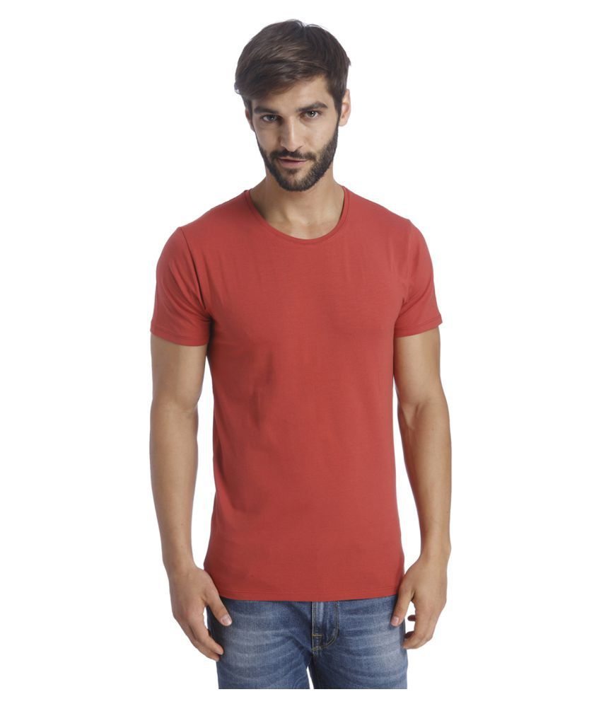 Selected Red Round T-Shirt