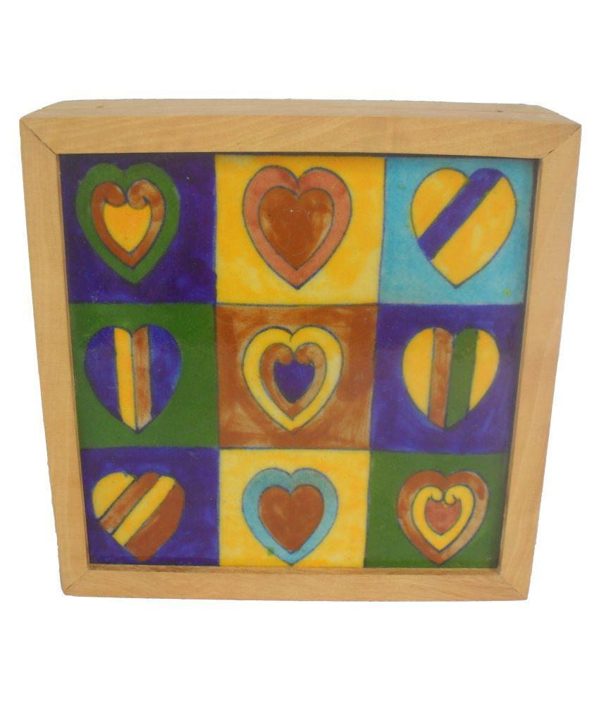 Sheela's Arts & Crafts Multicolour Wooden Jewellery Box