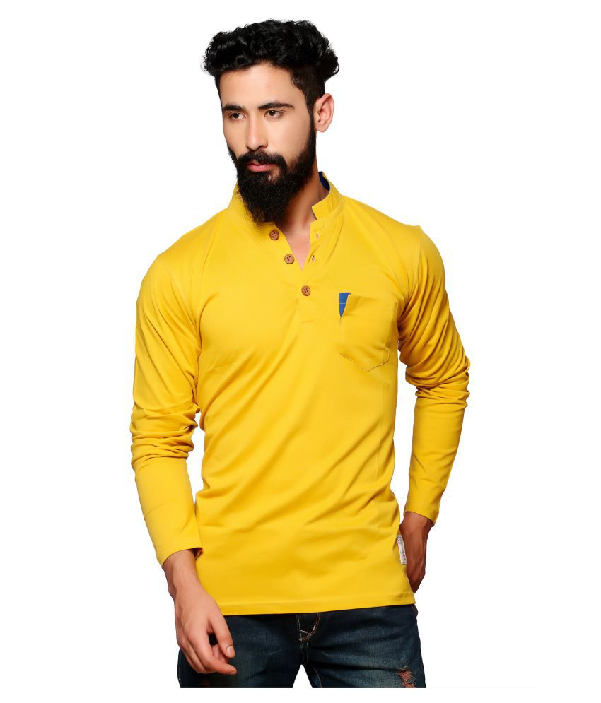 Nucode Yellow Henley T-Shirt