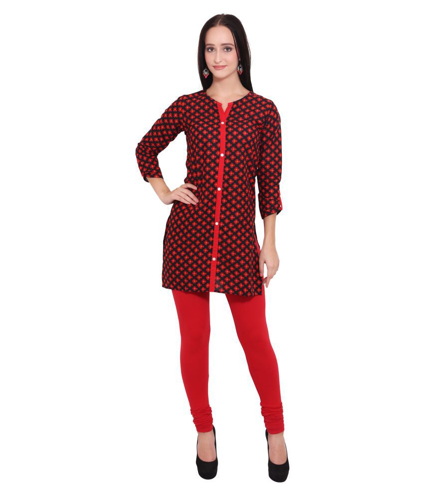 Vasudha Multicoloured Cotton Straight Kurti