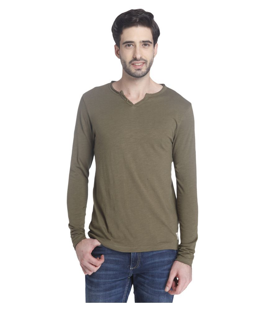 Jack & Jones Green V-Neck T-Shirt