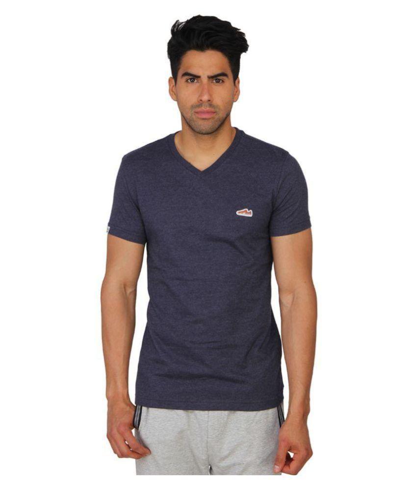 Puma Purple Cotton T-Shirt\n