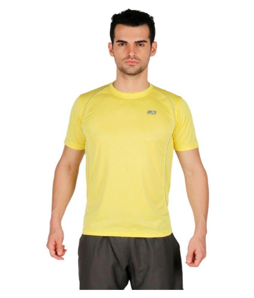 Vector X Yellow Polyester T-Shirt Single Pack
