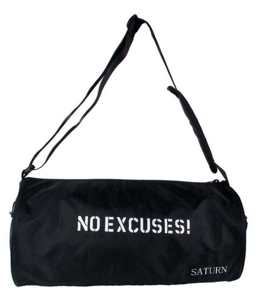 Saturn Black Gym Bag