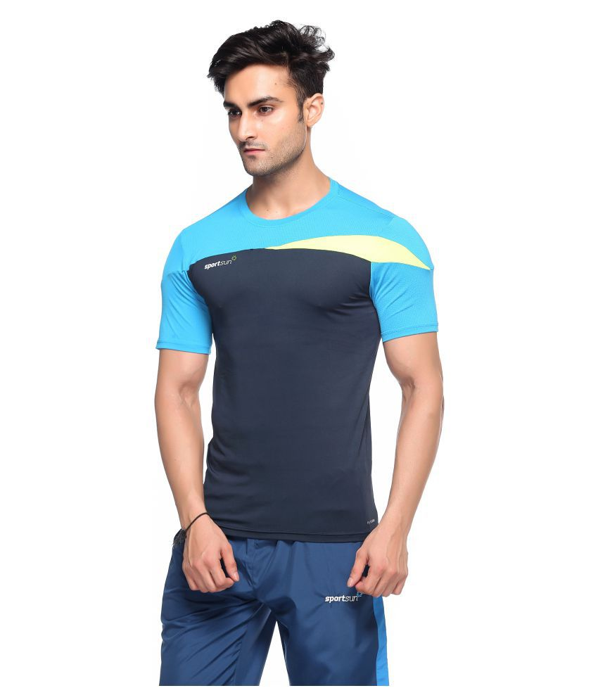 Sport Sun Blue Polyester T-Shirt Single Pack