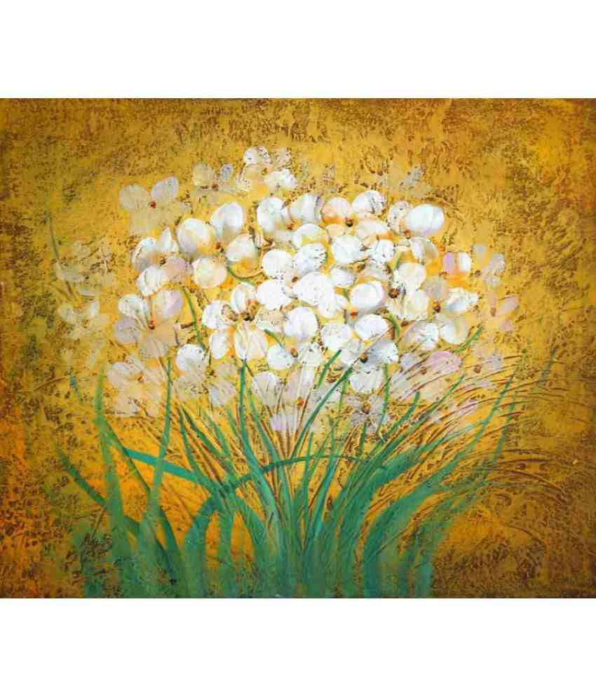 Vitalwalls Flowers Paper Art Prints Without Frame Single Piece