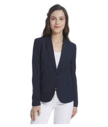 Vero Moda Navy Polyester Blend Blazers
