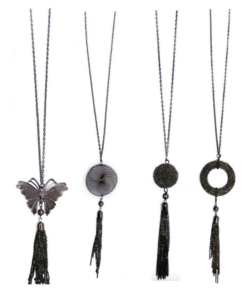 Abhimantrit Black Long Chain with Pendant - Set of 4  Buy Abhimantrit Black  Long Chain with Pendant - Set of 4 Online in India on Snapdeal 9b9e5dba4