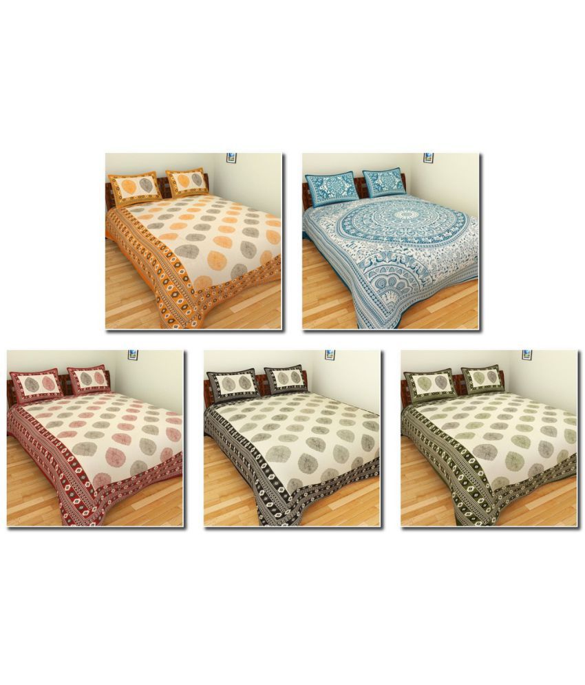 BleuIndus King Cotton Ethnic Bedding Set