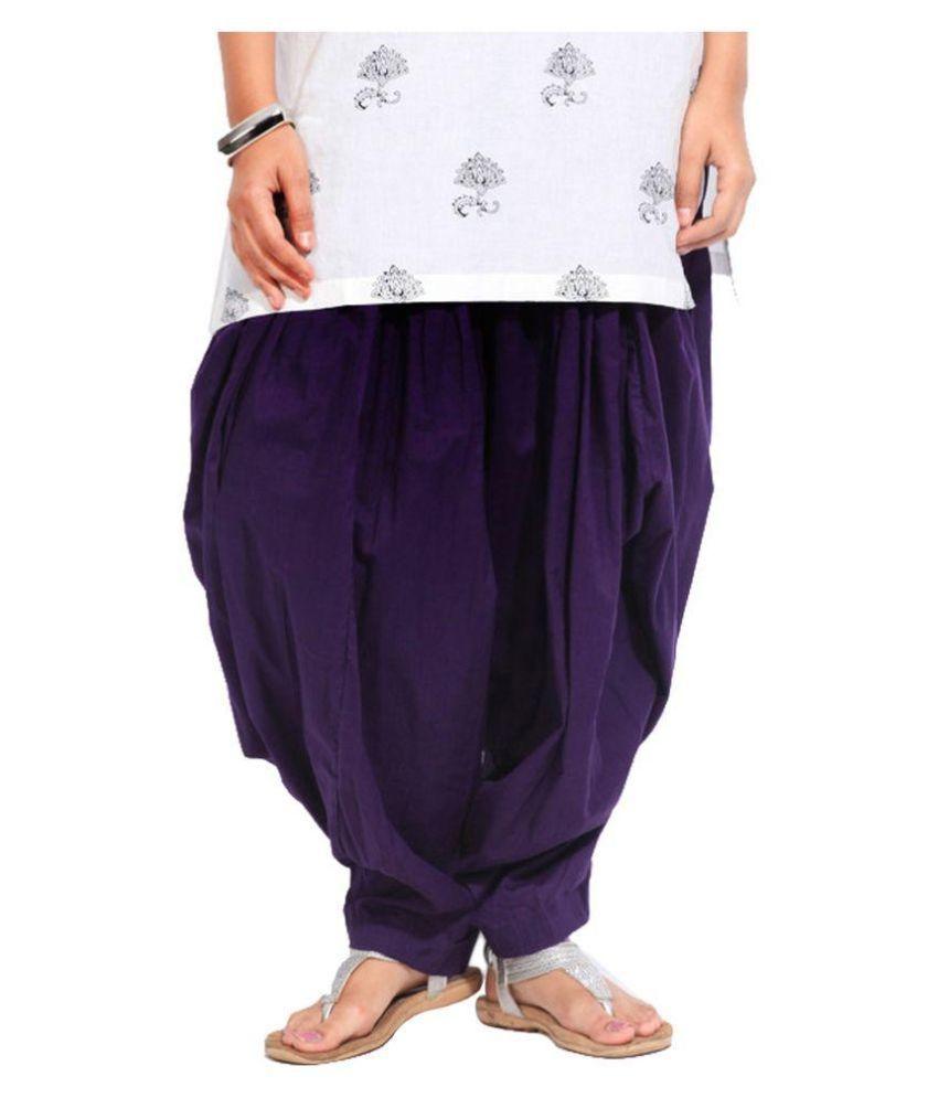 Fashion Arcade Cotton Single Semi Patiala Salwar