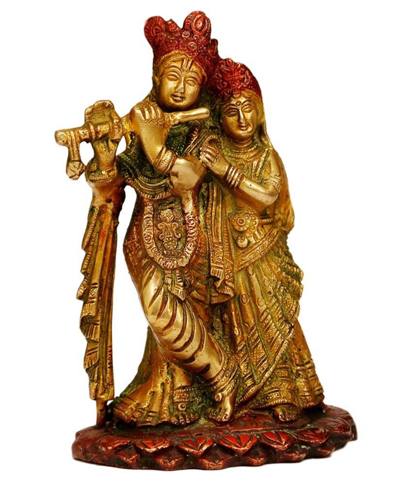 Craftartz Radha Krishan Brass Idol