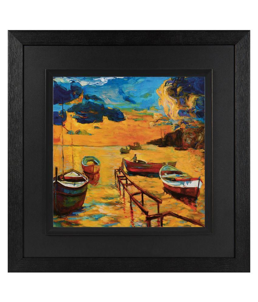 JAF Natural scene, Black  and Double framed painting Wood Art Prints With Frame Single Piece