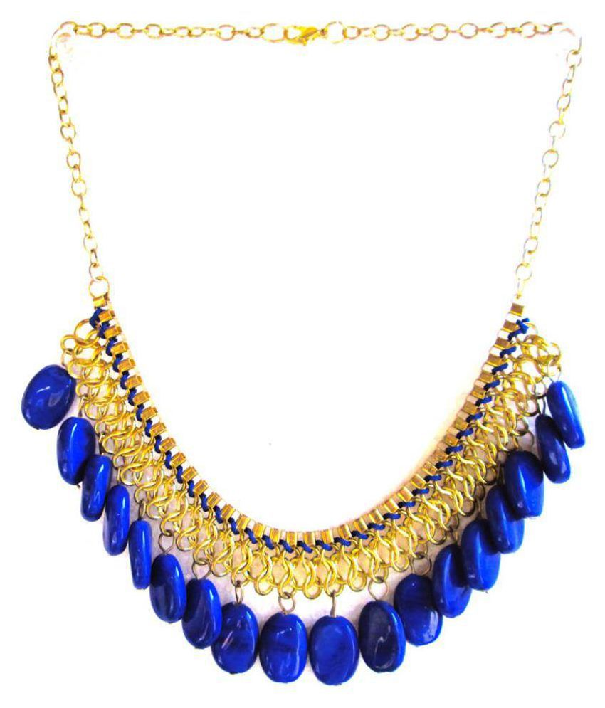 Shilpihandicrafts Blue Necklace