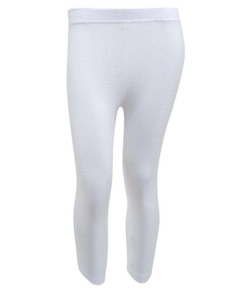 Tanus White Cotton Capri