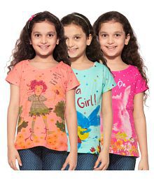 Stay Little Multicolor Cotton T-Shirts - Pack of 3