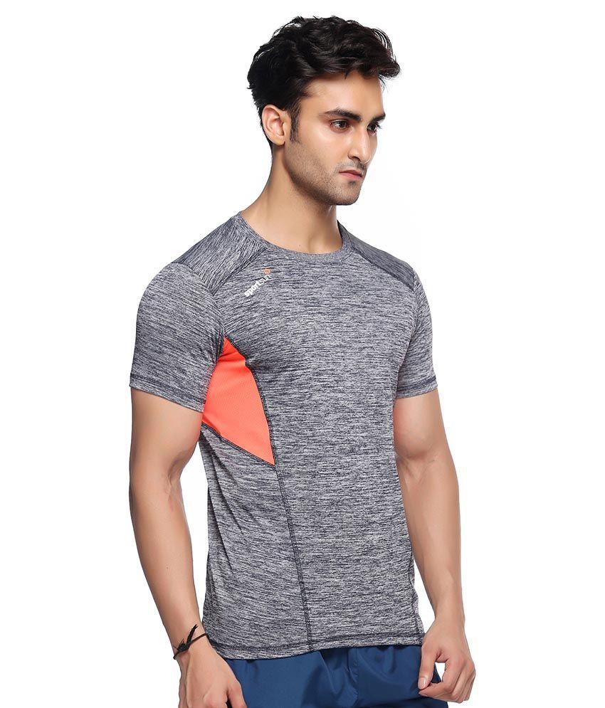 Sport Sun Grey Polyester T-Shirt Single Pack